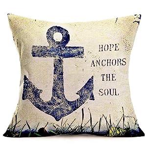 51q8-OaDazL._SS300_ 100+ Nautical Pillows & Nautical Pillow Covers