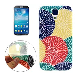 Blooming Chrysanthemum Pattern Protective Case Cover Carcasa de TPU Para Samsung Galaxy S4/i337
