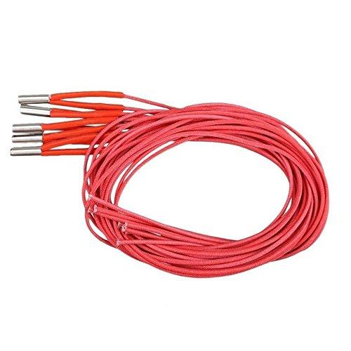 WAHHING 5pcs 6X20mm 1M 12V 40W Ceramic Cartridge Heater Wire for 3D Printer Reprap Prusa
