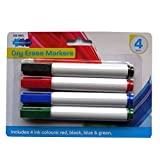 Large Dry Erase White Board Markers - Pack of 4 - Different Colours