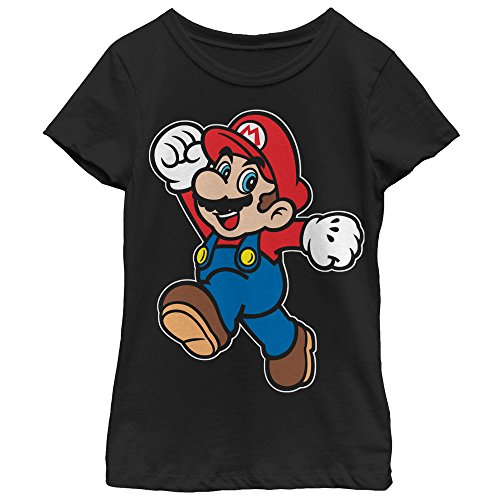 Price comparison product image Nintendo Girls' Super Mario Happy Black T-Shirt