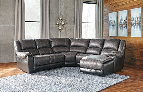 Signature Design by Ashley 5030140 Nantahala Left-Arm Facing Recliner, Slate