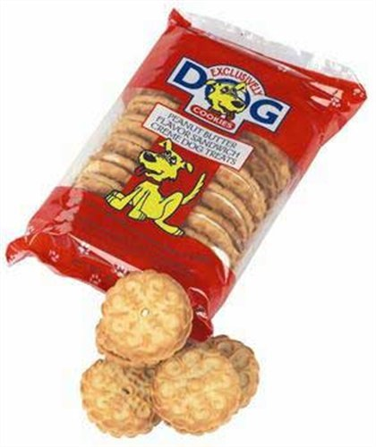 Exclusively Pet Sandwich Cremes-Peanut Butter Flavor, 8-Ounce Package, My Pet Supplies