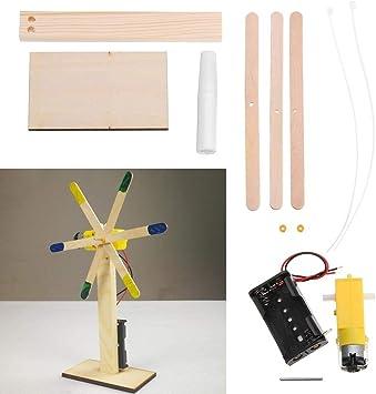 Herramienta de bricolaje Molino de viento eléctrico Estudiante Niños Modelo de mano Juguetes Tecnología DIY Kit de producción pequeña Bloques de construcción de invención científica Accesorios: Amazon.es: Electrónica