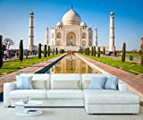 StickersWall India Taj Mahal Architecture Wall Mural Photo Wallpaper Picture Self Adhesive 1059 (342cm(W) x 242cm(H)) by StickersWall