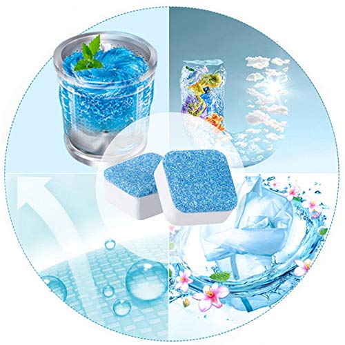 SISHUINIANHUA 1 Tab Washing Machine Cleaning Washer Cleaning Detergent Effervescent Tablet Washing Machine Slot Cleaning Tablet