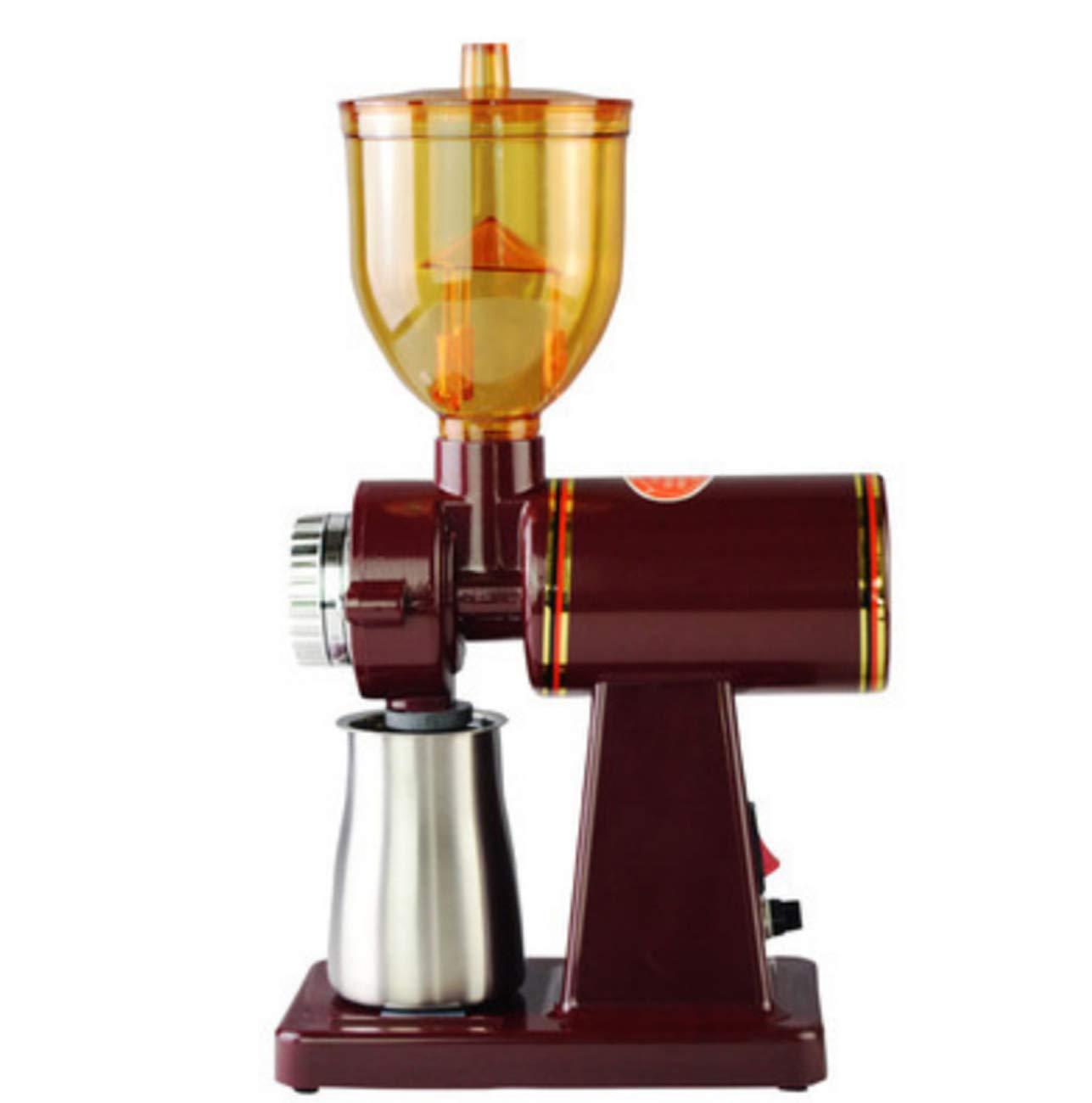 Huaishu Home Kaffee Schleifer Elektro-Kaffeebohnen Schleifer 110V/220V,ROT,110V