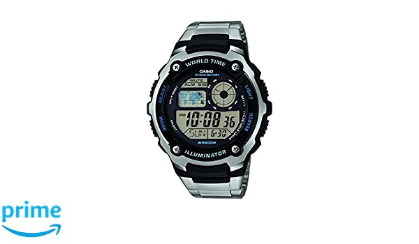 Amazon.com: Casio Ae-2100wd-1a *World Time, Water Resistance Led Light*: Watches