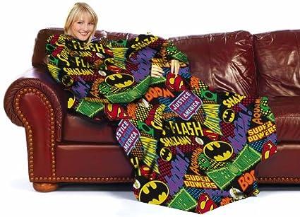 DC Comic Logos Batman Superman Comfy Throw Blanket  Amazon.ca  Home    Kitchen a0e08ae38