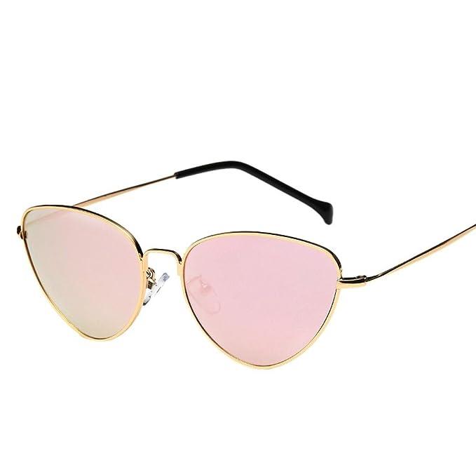 Lunettes de soleil Eye Elyseesen Femmes hommes été Vintage rétro Cat Eye Glasses lunettes de soleil unisexes (jaune) dH5ROP1N1