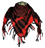 Premium Shemagh Head Neck Scarf - Red/Black
