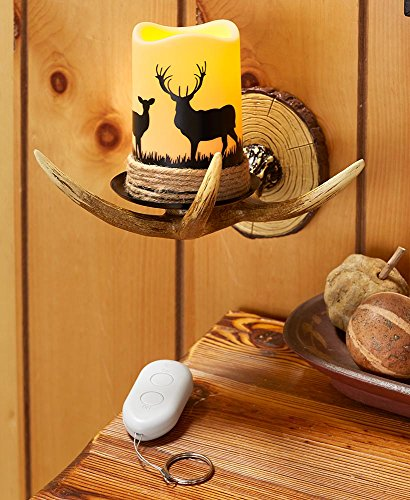 The Lakeside Collection Deer Antler Wall Sconce - Antler Wall Sconce