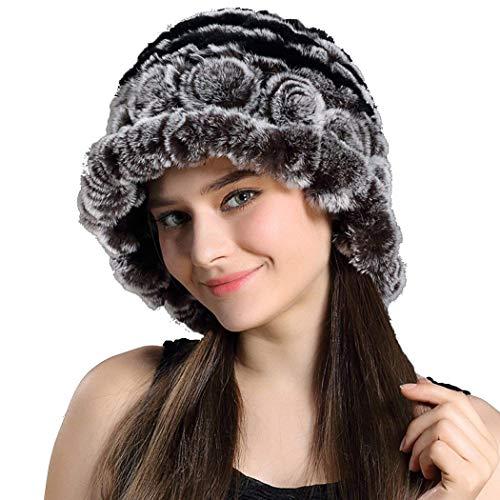 Acogedor Beanie Moda Capucha Bastante Simple Invierno De Elegante 2 Gorros Sombrero Cálido Mujer Color Suave Piel Ocio 8vSqXO