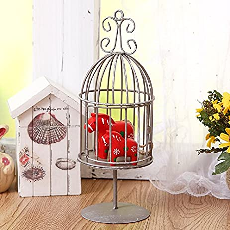 bueer decorative multifunction birdcage shaped metal candleholder tabletop candle lantern holder stand for home decor christmas