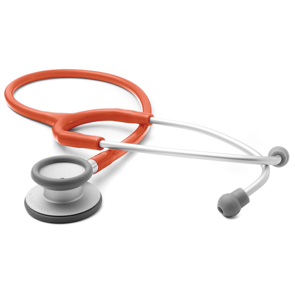 ADC Adscope Lite 609 Ultra Lightweight Clinician Stethoscope, 31 inch Length, Orange by ADC