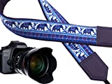 InTePro Camera Shoulder Neck Strap for All DSLR Cameras (Nikon Canon Sony Pentax), Elephant Classic Patterns Camera Sling Strap Design Highlights Your Personality