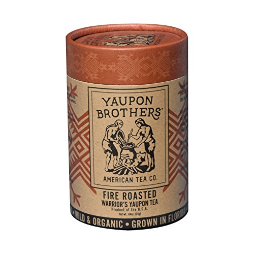 Fire Roasted Warrior's Yaupon Tea - Yaupon Brothers Holly Tea - Wild-Crafted, Naturally Caffeinated - Antioxidant-Rich - Florida Grown Superfood - 16 Natural Fiber Tea Bags