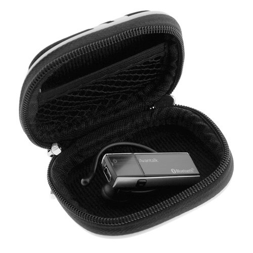 BIRUGEAR Silver Zebra Premium Universal Bluetooth 3.5mm Headset Pouch Carrying Case For Anker