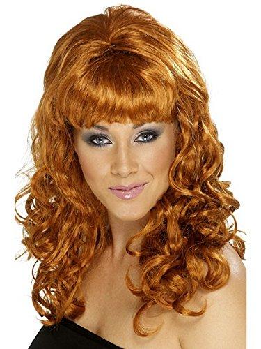 Smiffys Women's Auburn Beehive Wig with Curls, One Size, Beehive Beauty Wig, 5020570420614 ()