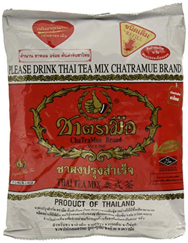 Number One The Original Thai Iced Tea Mix - Number One Brand Imported From Thailand - Great for Restaurants That Want to Serve Authentic and Thai Iced Teas, 400g Bag (Best Thai Tea Mix)
