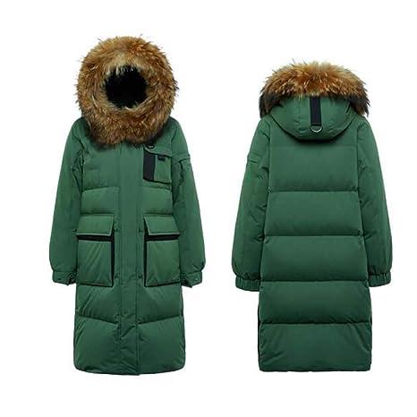 down jacket Chaqueta De Pluma con Cuello De Piel para Mujer Damas Herramientas Exteriores Engrosado Abrigo
