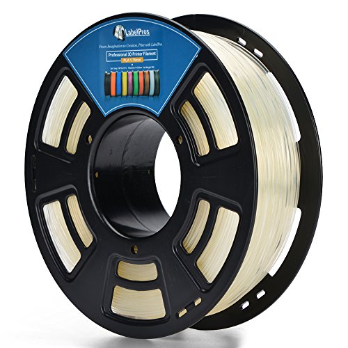 3D PLA 1.75MM CLEAR Plastic 3D Printer Printing Filament, Dimensional Accuracy +/- 0.04 mm, 1KG 2.2LBS