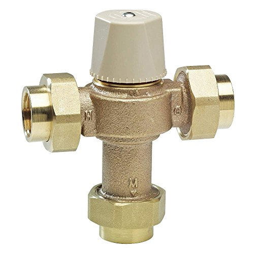 Watts Water Technologies - LFMMV-M1-UT - 1/2 Union Inlet Type Thermostatic Mixing Valve, Lead Free Copper Silicon Alloy, 13 gpm