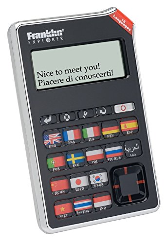 Franklin EST-4016 16-Language SPEAKING Global Phrasebook Translator With Recorded Human Voice by Franklin