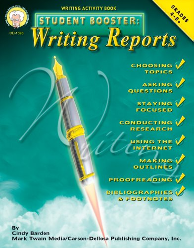 Student Booster: Writing Reports, Grades 4 - 8