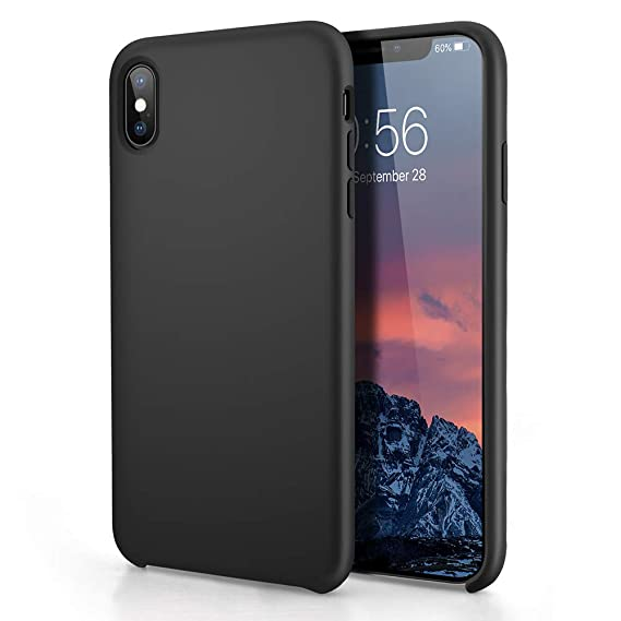 iphone xs max case liquid silicone gel rubber shockproof