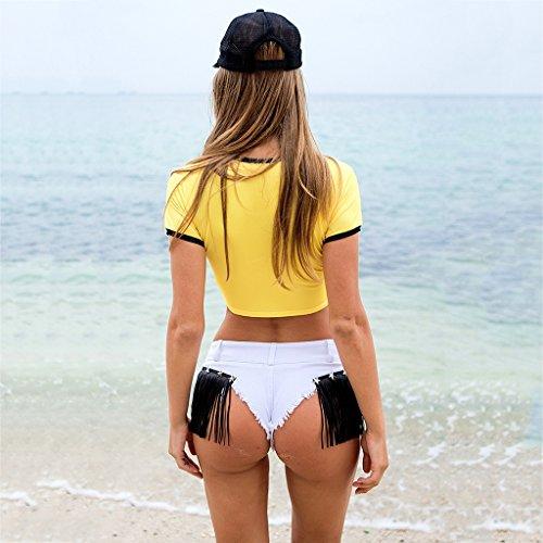 jeans QI glutei Size di Bianca Donna Cotone M BUSINE Reveal Pantaloncini FANG stelle Pink nappa Pantaloncini Color Pantalone w4qr4TZXPx