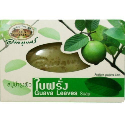 Guava Leaves Herbal Soap Anti-bacterial and Vitamin E Antioxidant Net Wt 100 G (3.53 Oz.) Abhaibhubejhr Brand…