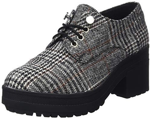 negro Zapatos Mtng Mujer De Negro Para poule Oxford Blanco C42791 57408 Cordones fwAw5qBv