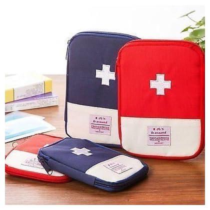 JAV Multi-function Medicine Storage Boxes First Aid Kit Travel Pouch // First Aid Pouch Medicine Pill Tablet Storage…