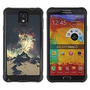 "Hypernova Defender Series TPU protection Cas Case Coque pour SAMSUNG Galaxy Note 3 III / N9000 / N9005 [Espacio Montaña Senderismo Andes Alaska""]"