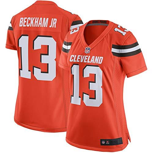 (#13 Odell Beckham Jr Cleveland Browns Women's Game Jersey - Orange M)