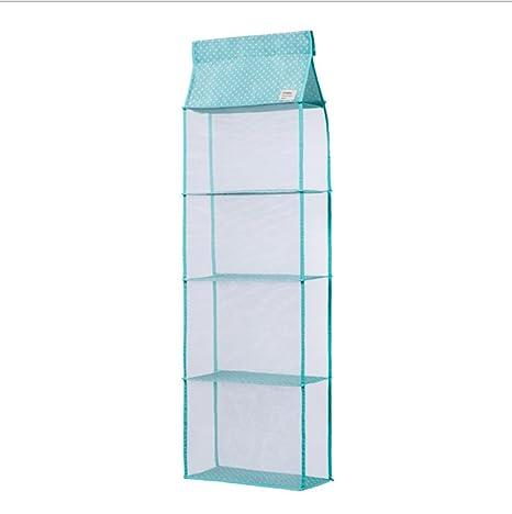 Compartimiento organizador de 4 pisos Bolsa colgante Organizador de bolsos Bolsa transparente Colección de bolsos Soporte