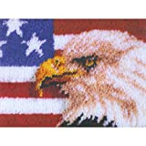 Wonderart American Eagle Latch Hook Kit, 15