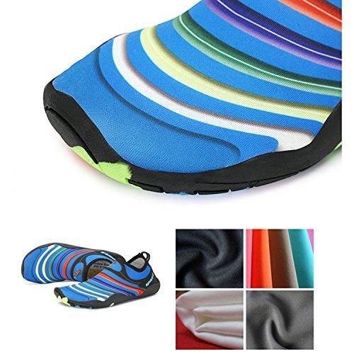 Gar Barefoot Shoes Fille Piscine Surf on Chaussures Bleu Chaussettes Water Sport d'eau Pieds Nus Enfant Natation Aqua Aquatique SAGUARO Plage New vUS7zwq