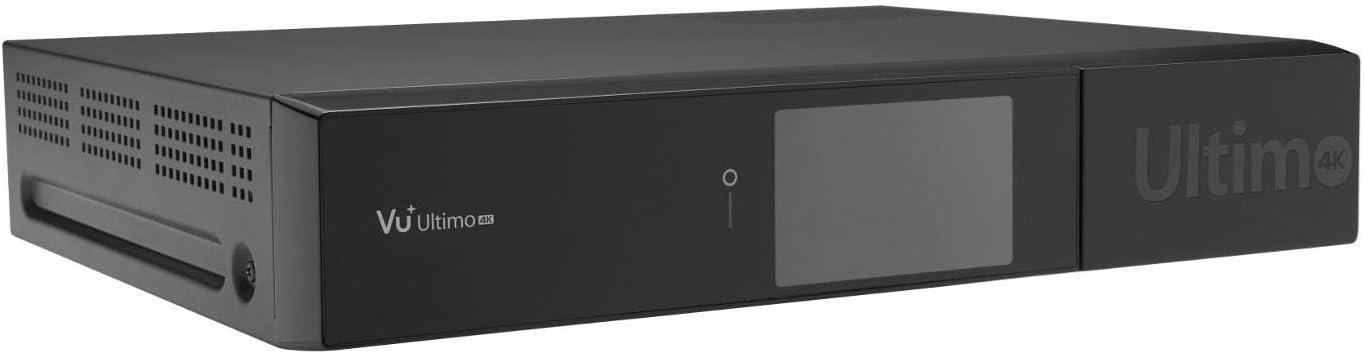 Vu+ Ultimo 4K TV Set-Top Boxes Satélite Alta Definición Total Negro - Reproductor/sintonizador (Satélite, DVB-C,DVB-S2, 576p,720p,1080i,1080p,2160p, 4:3,16:9, H.264,H.265,MPEG4, AC3,MP3): Amazon.es: Electrónica