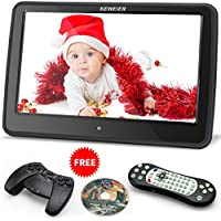 KEWEIER Ultra-thin 10.1 Inch HD TFT LCD Wide Digital Touch Screen Car Headrest DVD Player with Remote Control - Black