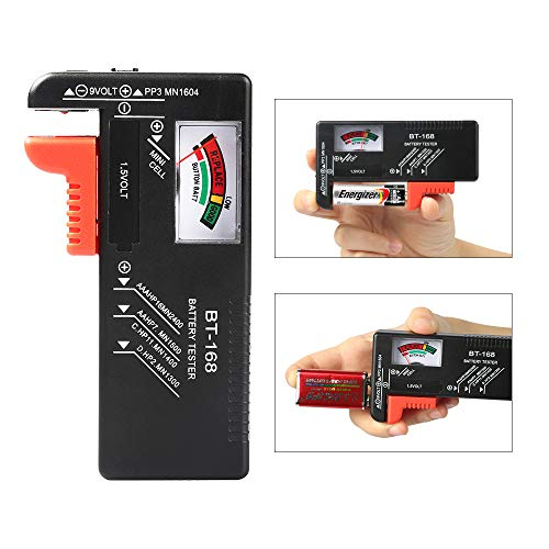 Battery Tester, VTECHOLOGY Model BT-168 Battery Checker for AA AAA C D 9V 1.5V Button Cell Batteries (Requires No Battery for Operation) by VTECHOLOGY (Image #2)