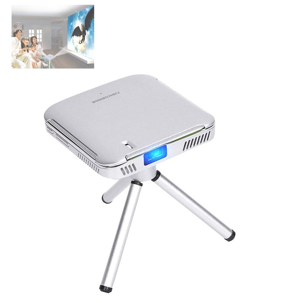 LiChenYao Micro Projector DLP Handheld Mini Android Projector with WiFi Bluetooth Wireless Same Screen 1080P