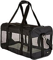 AmazonBasics Portamascotas negro de lados suaves, grande