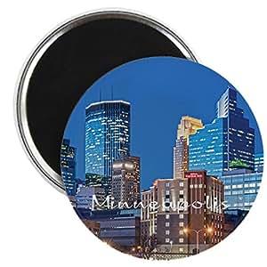 Cafepress Minneapolis Magnet Round Magnet Refrigerator Magnet Button