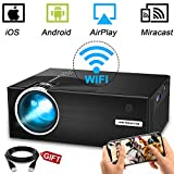 WiFi Projector, Weton 2800Lumens LED Wireless Mini Projector 1080P HD Portable Movie Theater Video Projector, WiFi Directly Connect with Smartphones, Support HDMI,VGA,AV,USB,SD,TV Box
