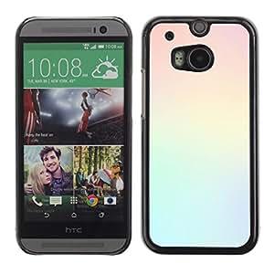 Be Good Phone Accessory // Dura Cáscara cubierta Protectora Caso Carcasa Funda de Protección para HTC One M8 // light colors teal yellow pastel clean