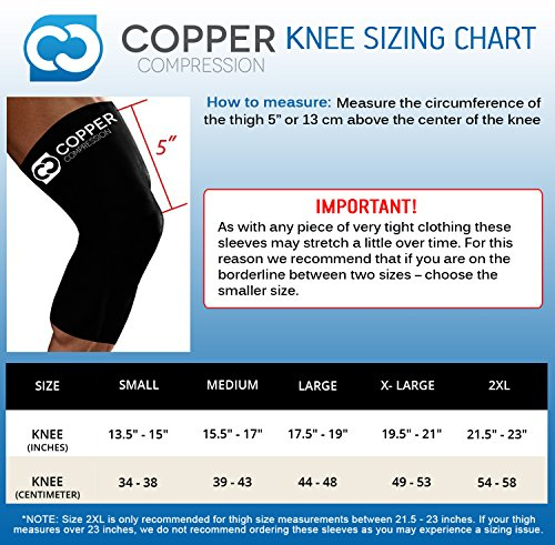 Copper-Compression-Recovery-Knee-Sleeve-GUARANTEED-Highest-Copper-Content-With-Infused-Fit-Best-Copper-Compression-Knee-Brace-Support-For-Men-And-Women-Wear-Anywhere