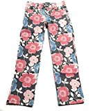 Gymboree Big Girls Grey Floral Pants, 5