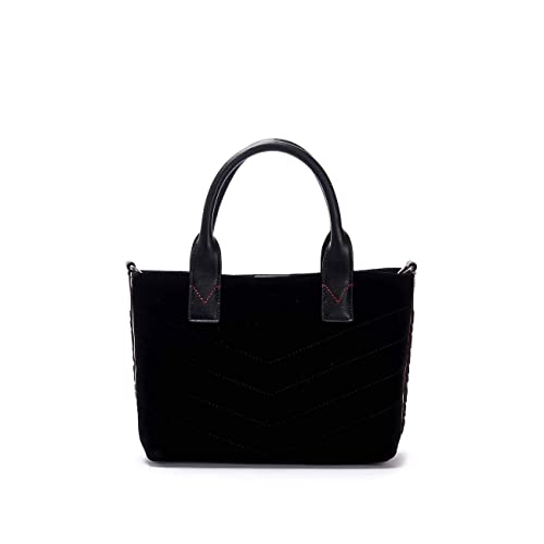 PINKO BAGS Shopping Bag Small con Tracolla in Velluto Donna Nero   Amazon.it  Scarpe e borse 2fc979ac413